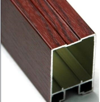 Polishing Wood Grain Construction Aluminum Window Door Profile Aluminium Profile