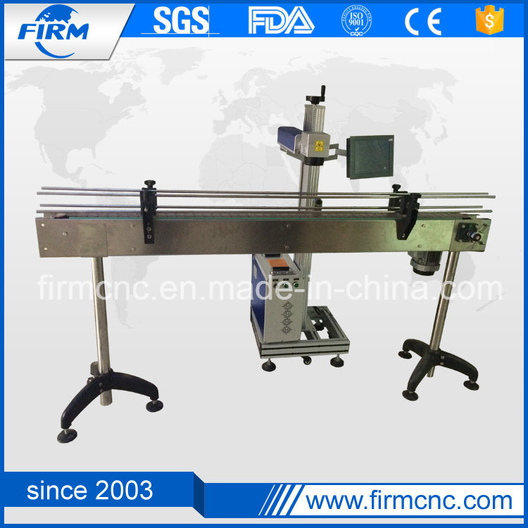 Ce Approved 10W 20W 30W Metal and Nonmetal Flying Fiber Laser Marking Machine