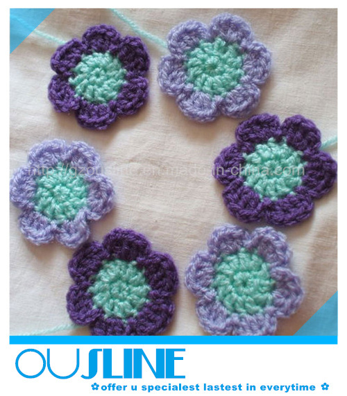 Decorative Crochet : China Purple Decorative Crochet Flower (CF-0013) Photos & Pictures ...