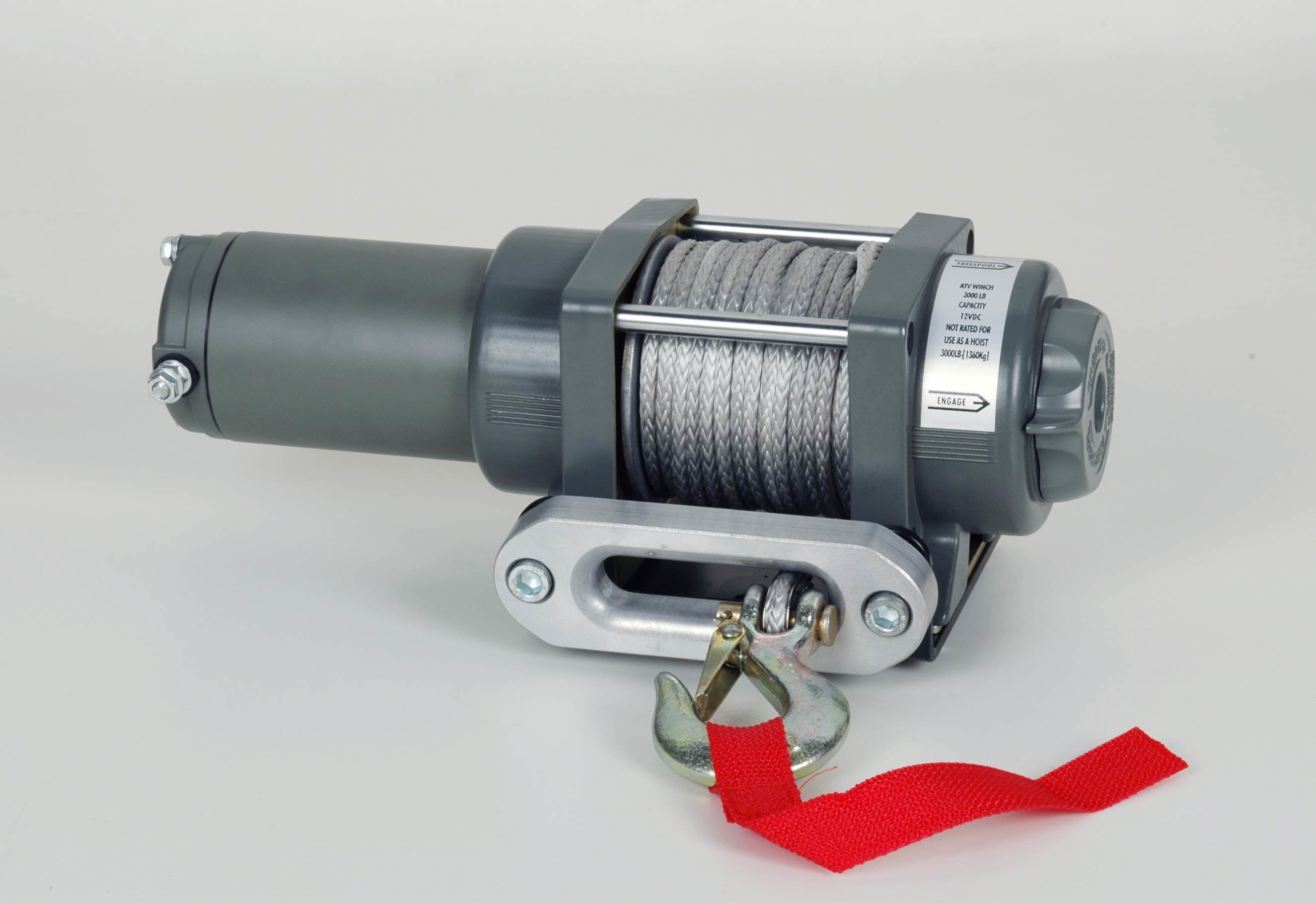 ATV Electric Winch with 3500lb Pulling Capacity (Updated Model)