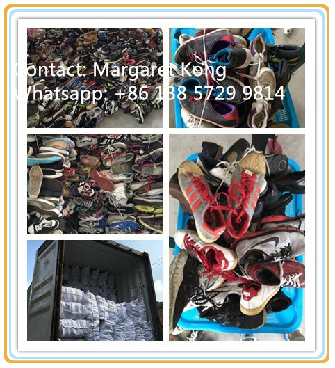 Big Size Man Sport Used Shoes for Africa Market (FCD-005)