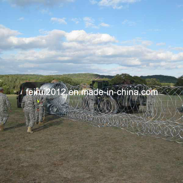 Removable and Collapsible Razor Wire Barriers