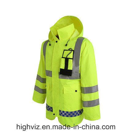 High Quality Reflective Rain Jacket with ANSI107 (C2443)