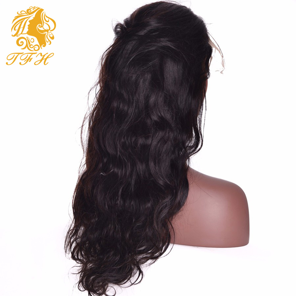 Best Long Full Lace Human Hair Wigs with Bangs Virgin Brazilian Body Wave Glueless Human Hair Lace Front Wig with Baby Hair