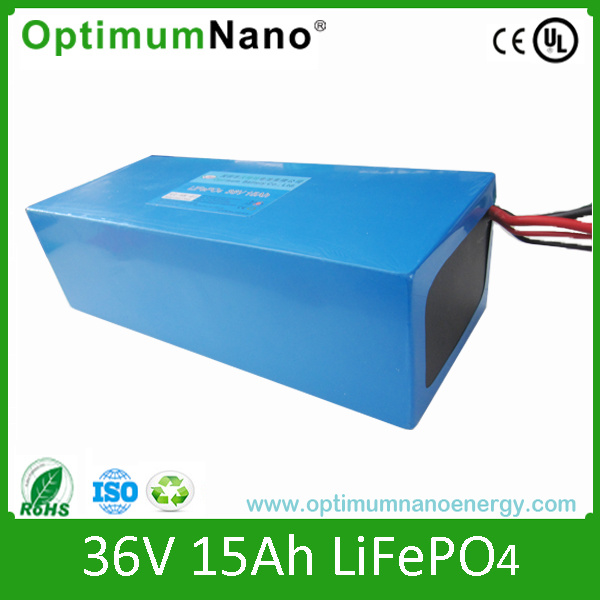 E-Bike LiFePO4 Battery with Charger 36V 15ah with PCM