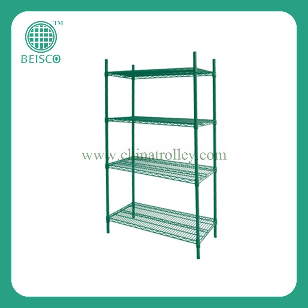 Colorful Chrome Wire Shelving Steel Wire Shelf Rack