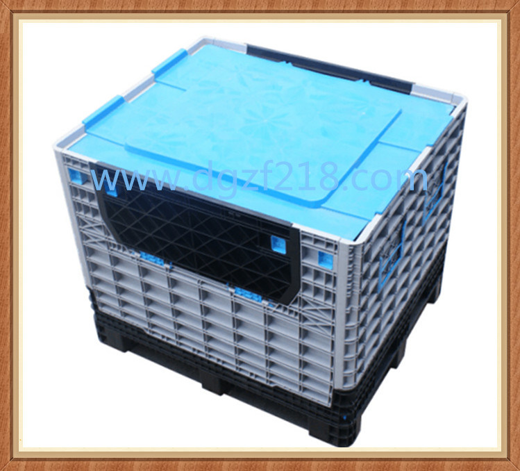Superior Collapsible Plastic Pallet Box with Lid for Sale