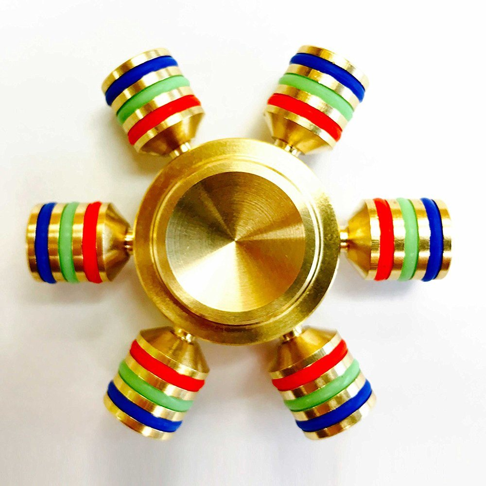 Colorful Fidget Tri-Spinner Toy Sensory Autism Adhd