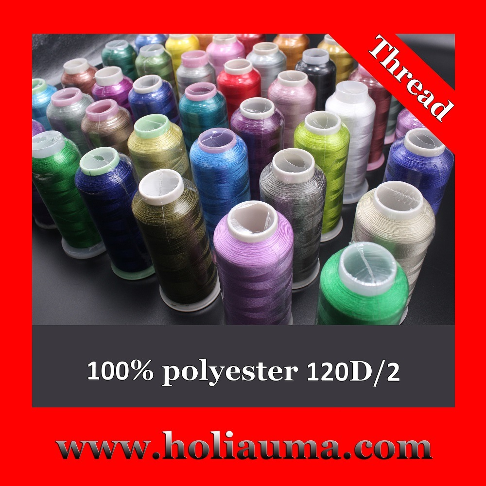 100% Polyester Embroidery Thread for Computerized Embroidery Machine