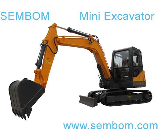 Multifunction Mini Excavator 6ton (SE60) for Farming, Civic Building, Gardening