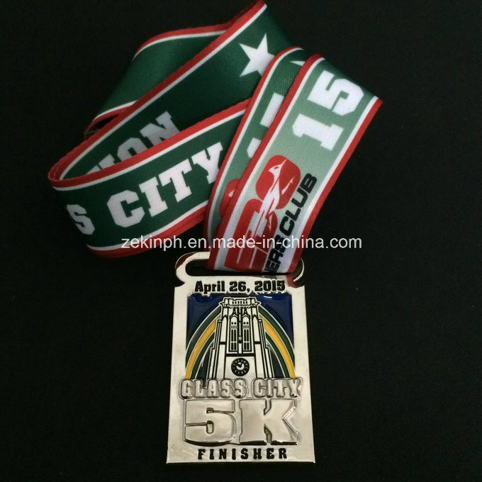 Custom Running Competition Medals with Lanyard for Awards