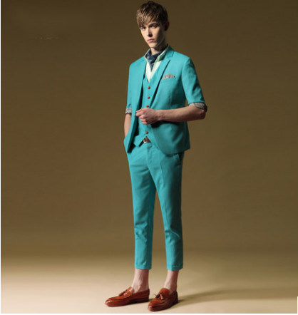 New Style Slim Fit Men′s Linen Suit
