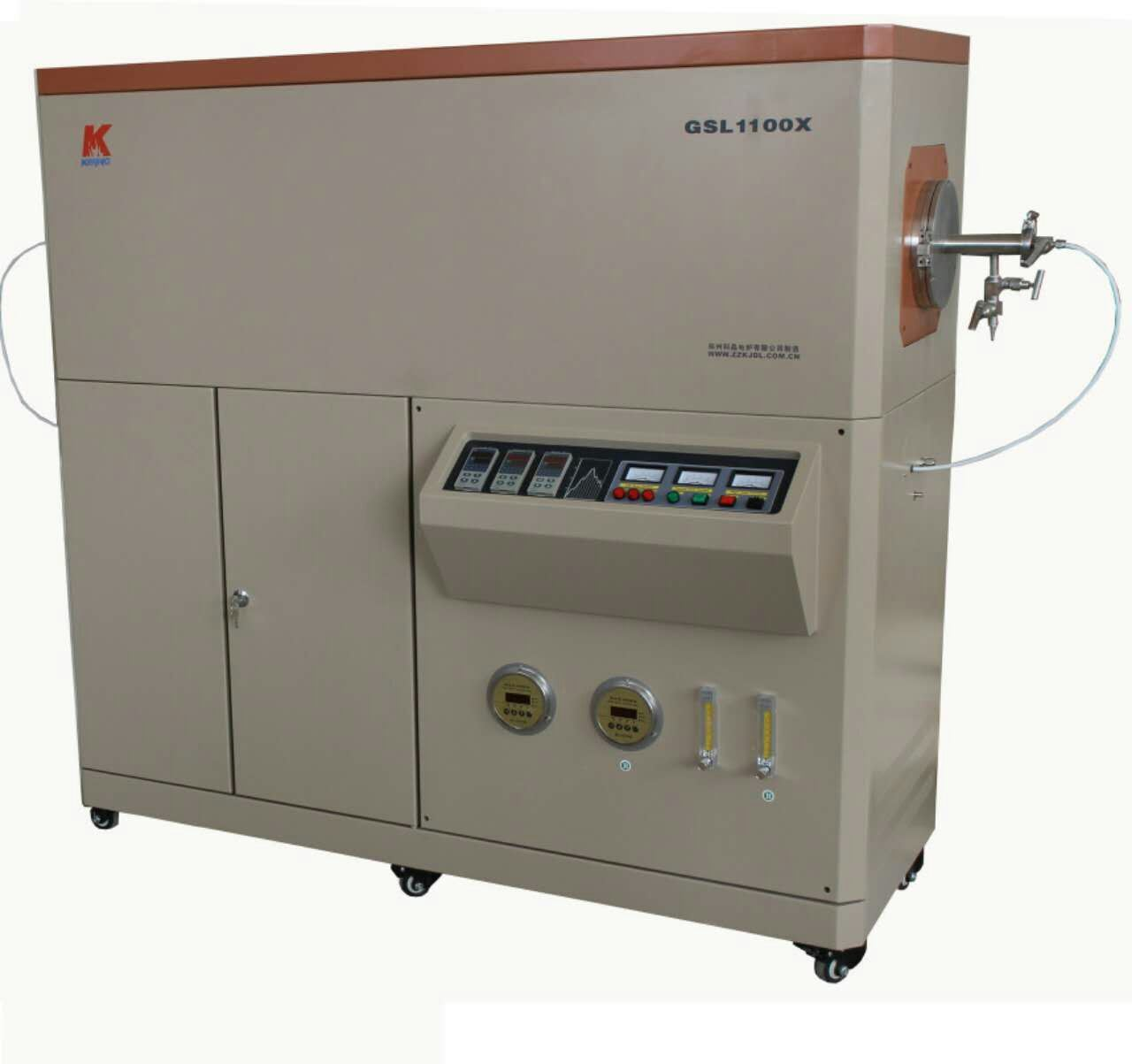 Three Zones Tube Furnace with 150mm Quartz Tube and Gas Flow Controller
