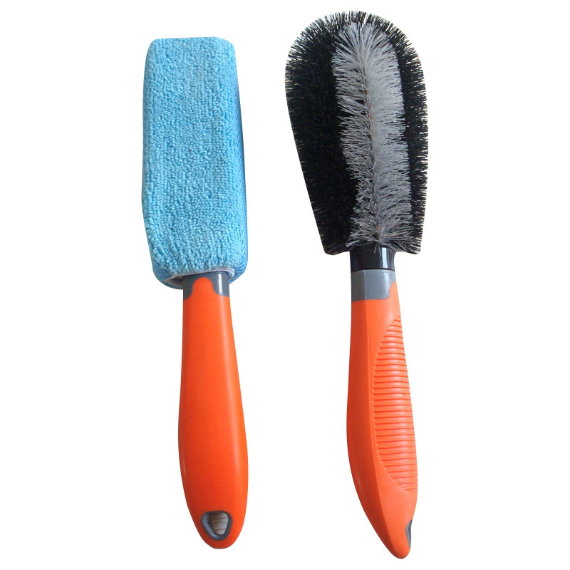 Microfiber and Nylong Car Wheel Brush Set