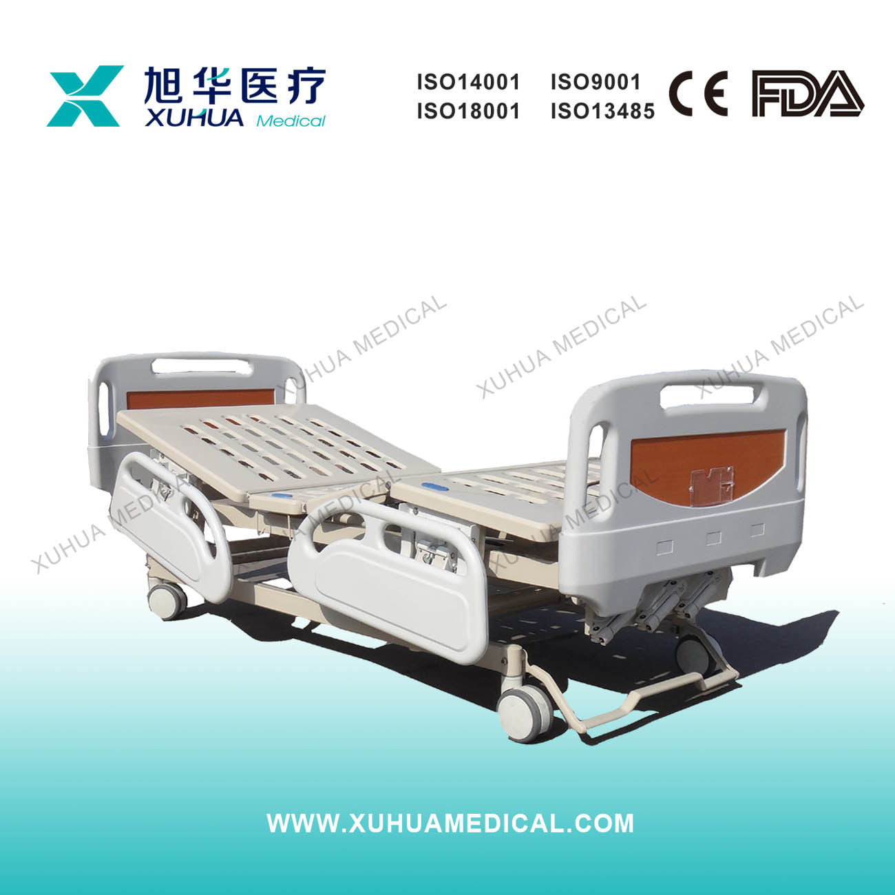 Three Cranks Manual Medical Bed