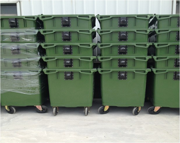 Big Size Four Wheels Plastic Waste Container (660L)