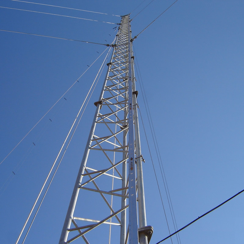 Guyed Roof Top Tower for Cell Phone Signal WiFi Signal