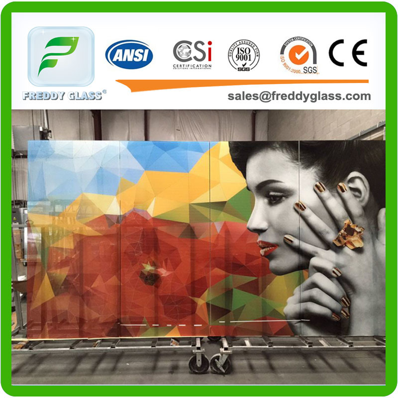 Tempered Digital Ceramic Printing Glass, Stained Glass,