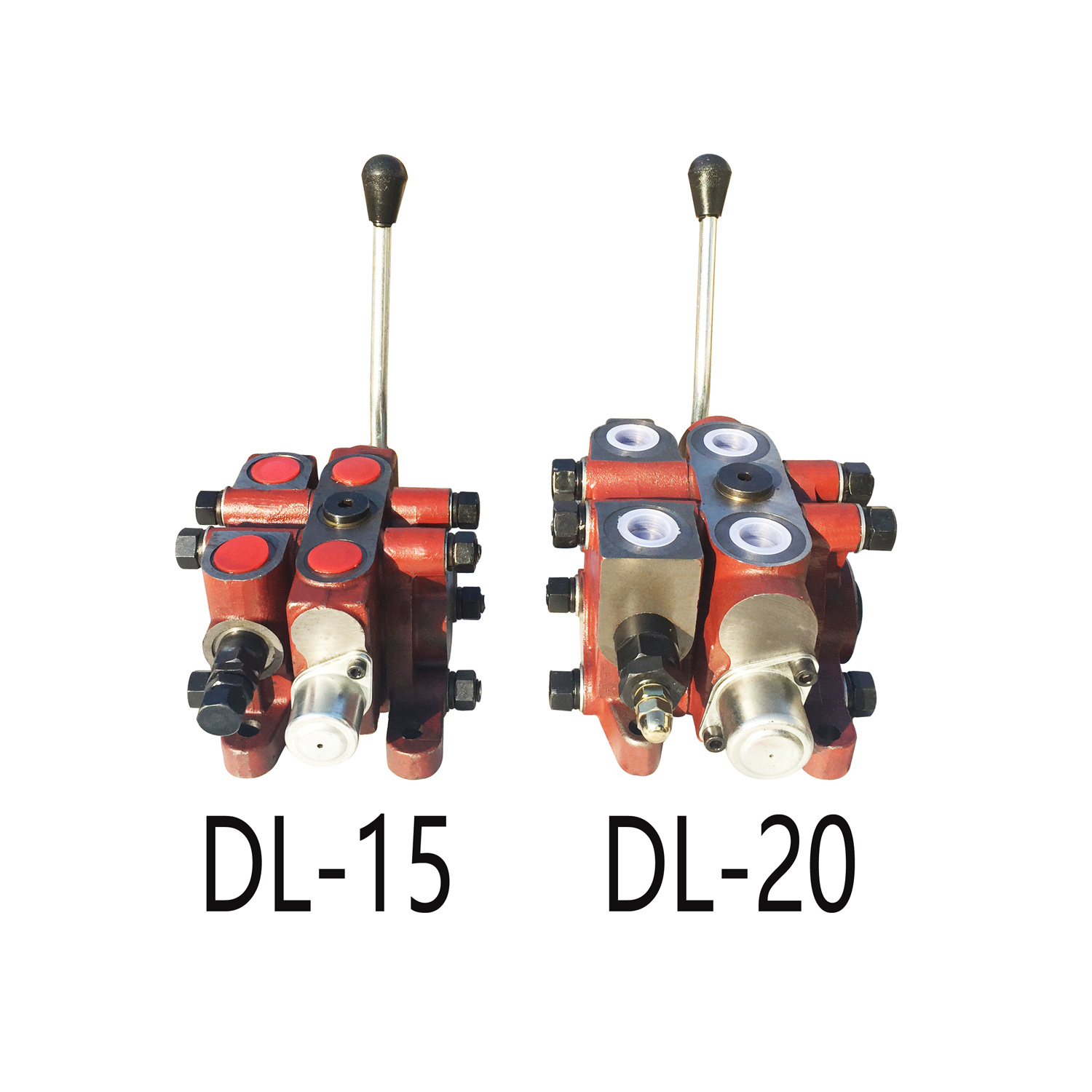 DL15 6 Spool Hydraulic Control Valve Mounting Relief Valve Equipment
