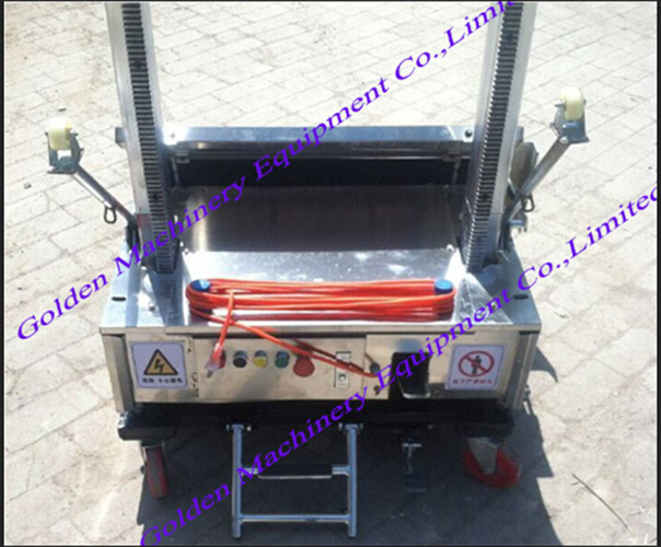 Chinese Auto Cement Block Wall Plaster Rendering Machine