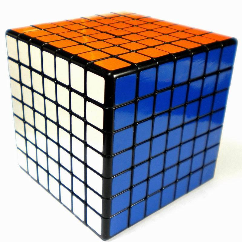 Shengshou 7X7X7 7X7 7-Layer Inferential Magic Cube with Two Color