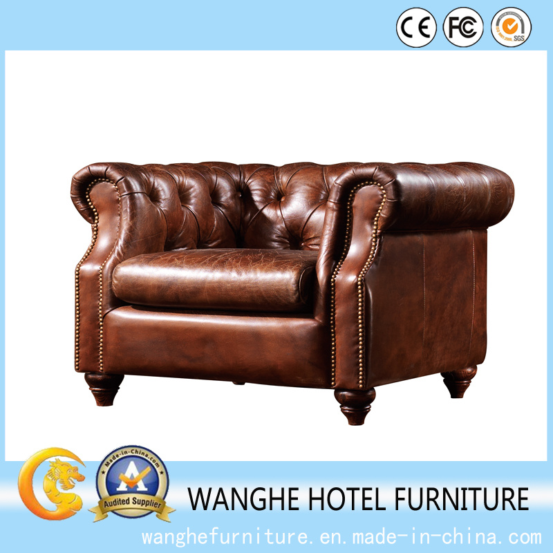 Best Price European Antique Furniture Set Leather Sofa Set for Living Room