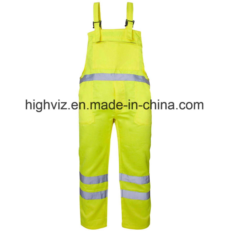 Reflective Polycotton Bib Trousers with En20471 Certificate (C2392)