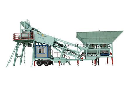Trailer Mobile Concrete Batching Plant Yhzs75