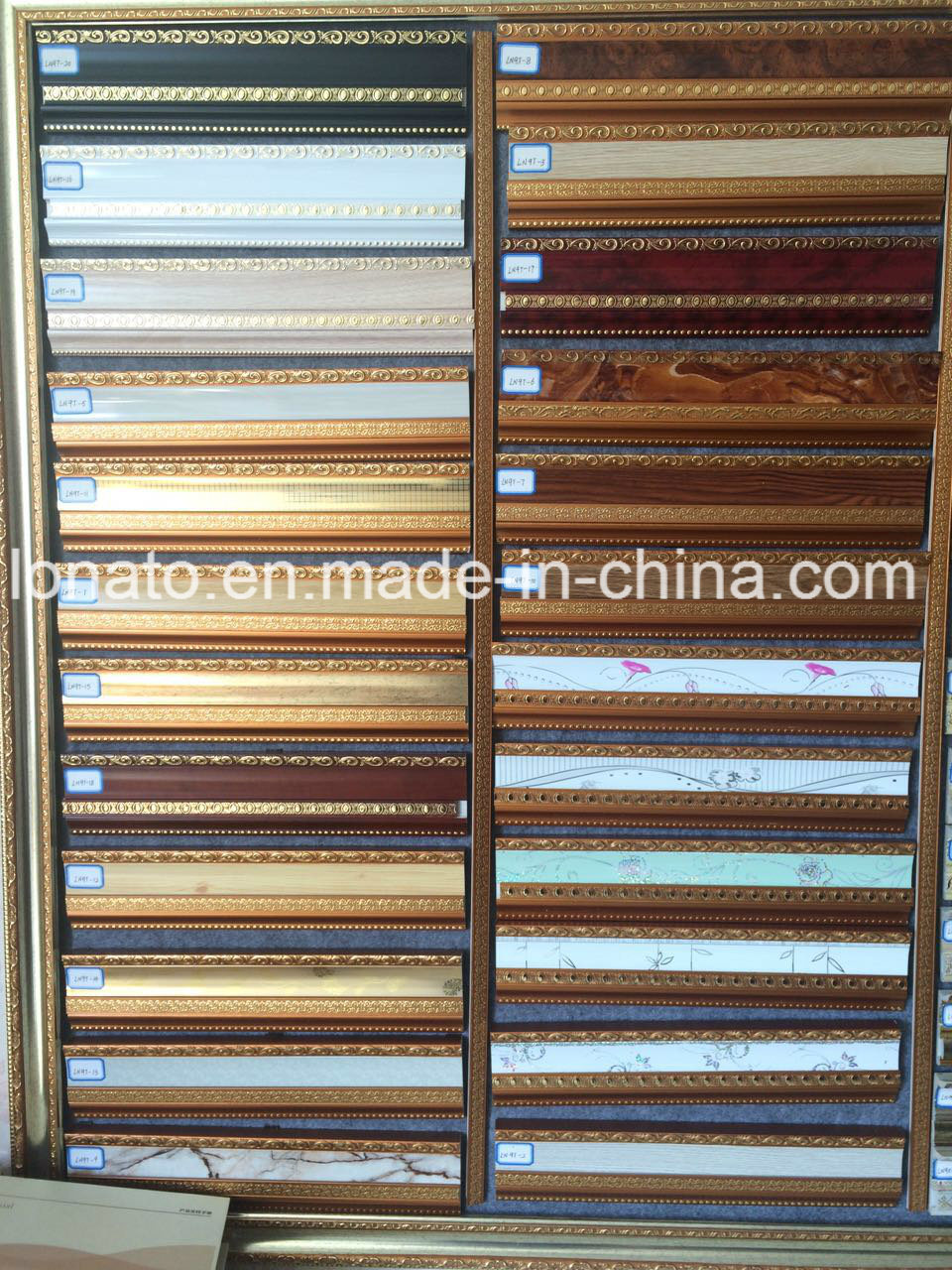 9cm PS Cornice Moulding with Different Hot Stamping Colors