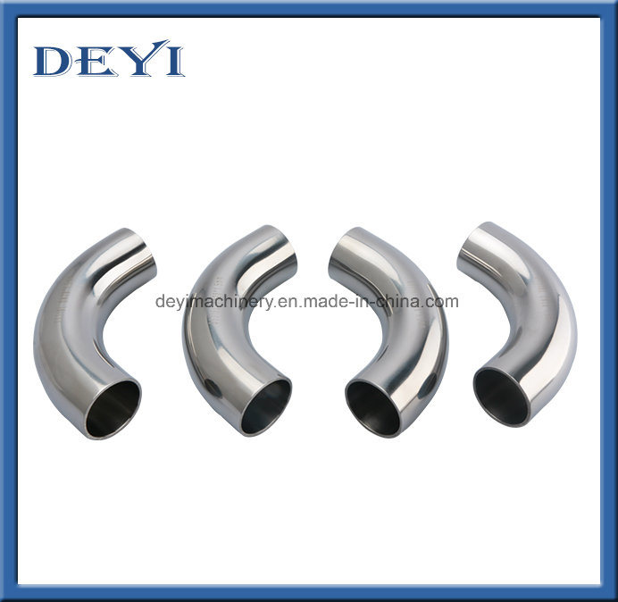 Sanitary Pipe Fittings Stainless Steel Butt-Weld Elbow