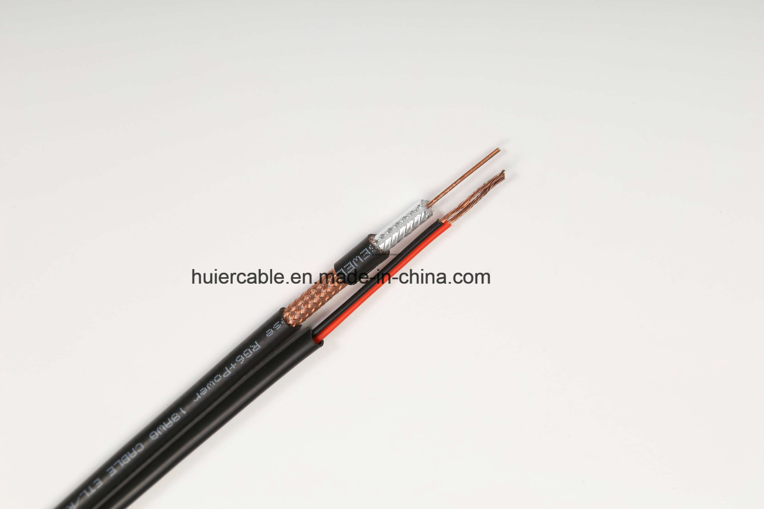 Camera RG6 CCTV Rg59 Cable for Security System with 18AWG/2 Power Wires