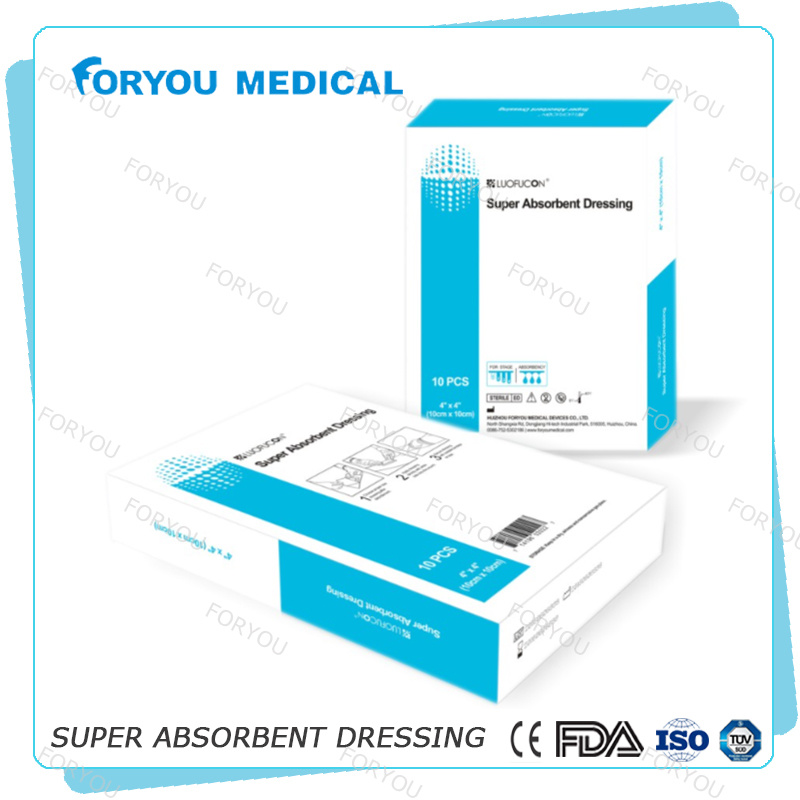 Surgical Dressing CE FDA Super Absorbent Foam Dressing with Silicone