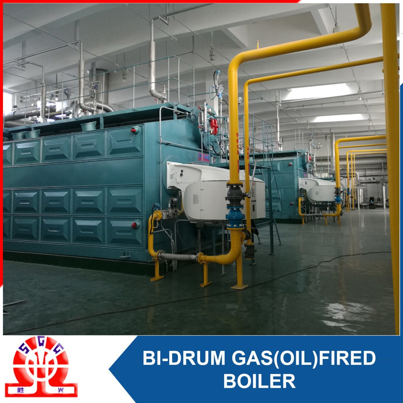 Double-Drum Diesel Gas and LNG Fuel Fired Steam Boiler