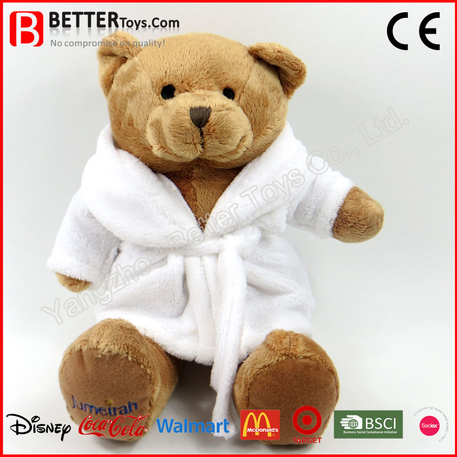 Plush Teddy Bear Soft Toy in Bathrobe for Kids