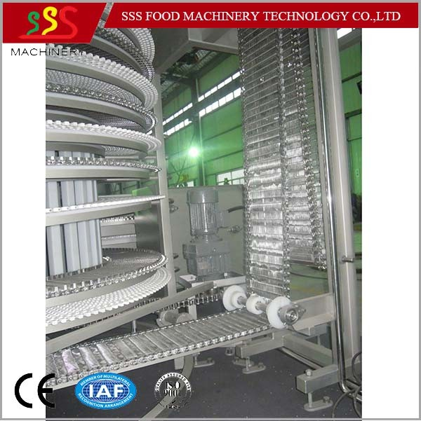 Ce Certificate Single Spiral Freezer with Compressor IQF