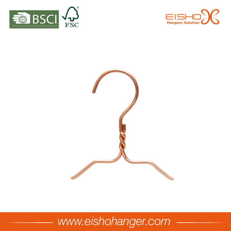 Beautiful Gold Color Wire Hanger for Garment