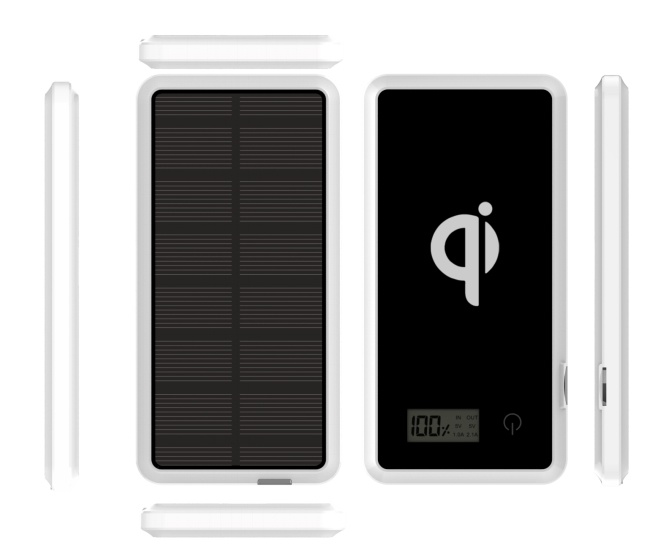 Portable Mini Solar Mobile Power Bank with Wireless Card