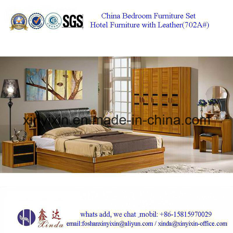 Luxury PU Leather King Size Bed Hotel Bedroom Furniture (705A#)