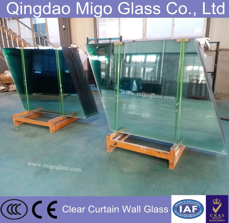 Clear / Colored / Tinted Toughened / Tempered Safety PVB Laminated Building Glass