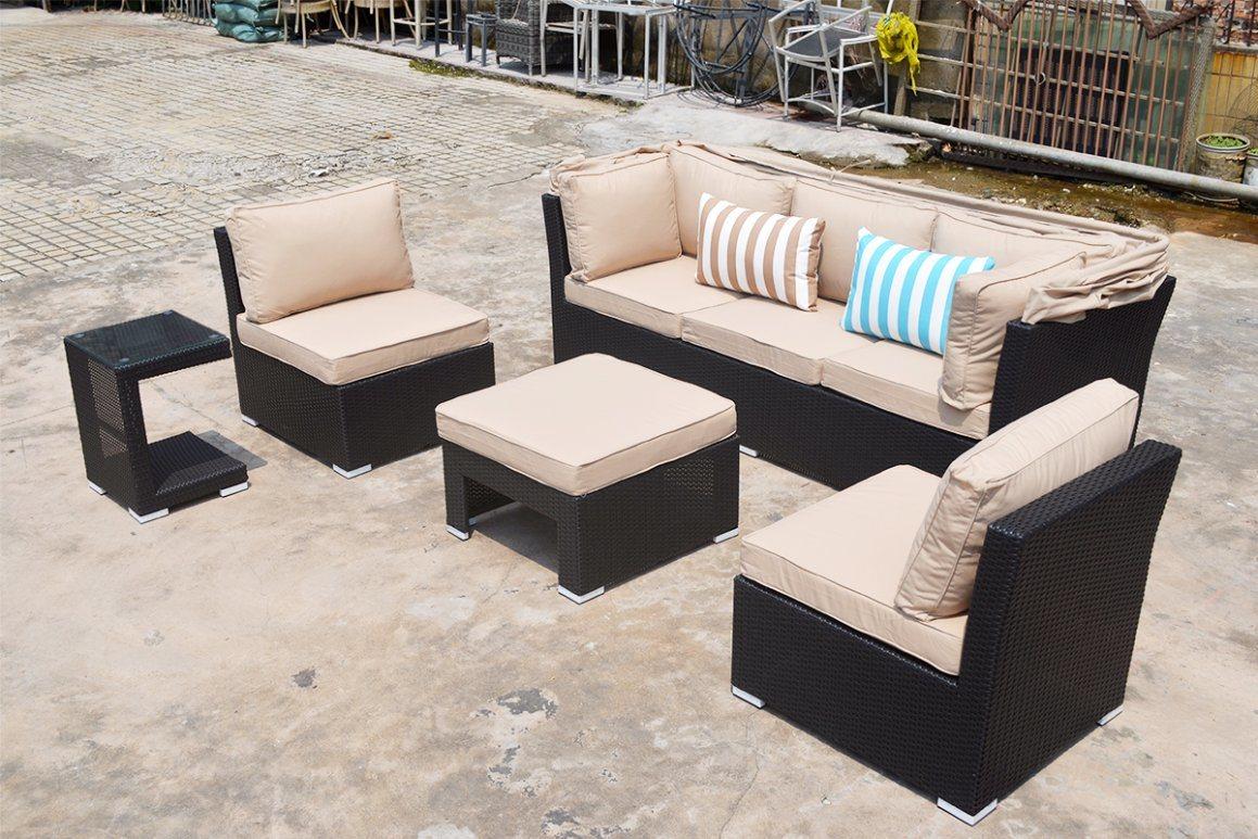 Garden Patio Beach Rattan Tent Granada Lounge Home Offce Hotel Outdoor Furniture (J547)