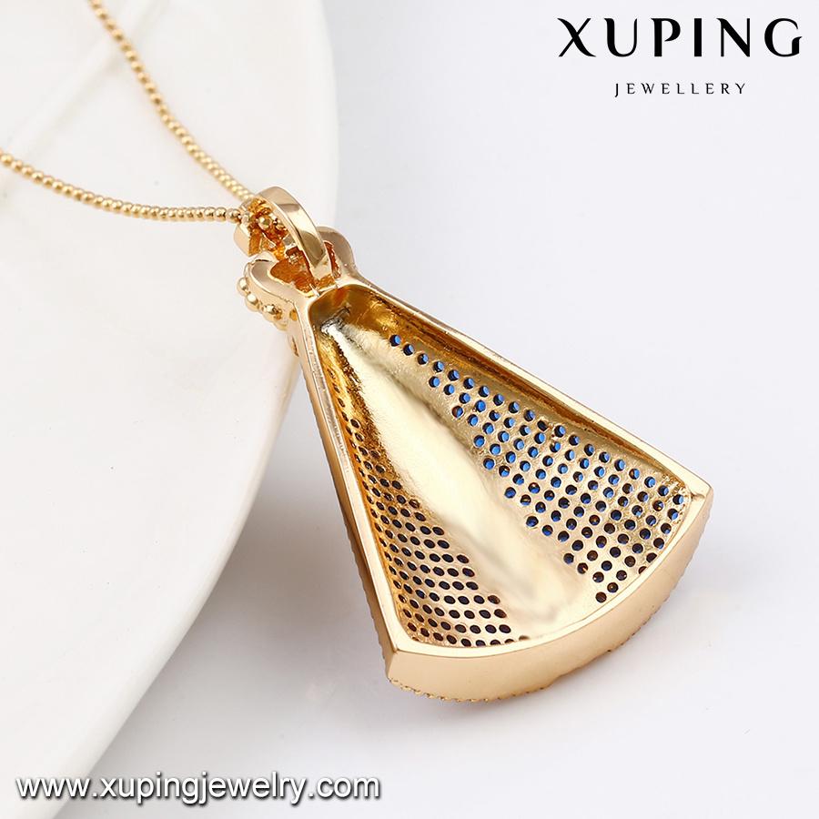 32688 Fashion Jewelry Luxury Diamond Big Sweather CZ Pendant Necklace