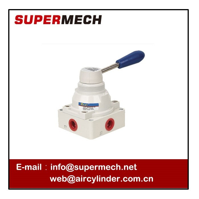 4hv Seires 3 Way 4 Position Pneumatic Industrial Lever Valve Without Nut