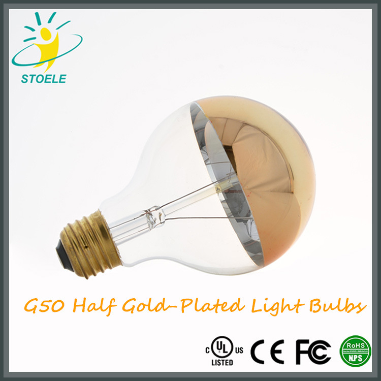G25/G80 LED Bulb Half Rose-Gold Plating LED Lighting