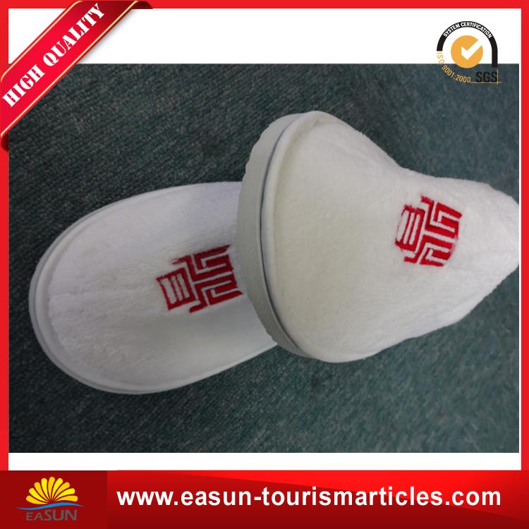 Custom White Hotel Disposable Slippers for Airline