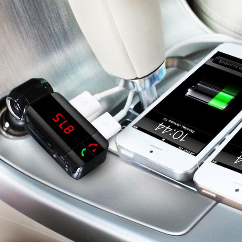 MP3 Audio Player Bluetooth FM Car Transmitter Wireless FM Modulator Car Kit Handsfree LCD Display USB Charger