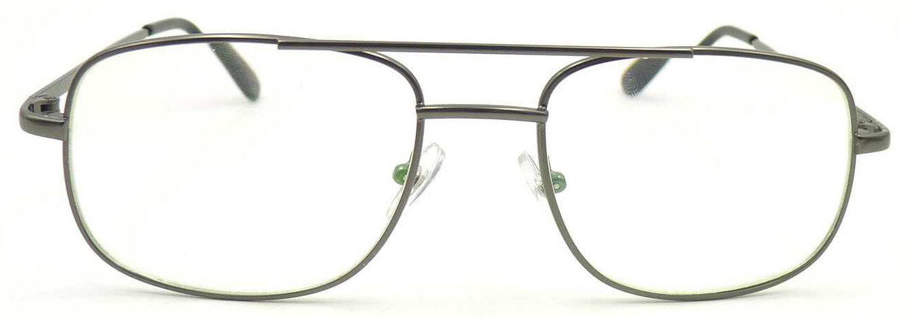 RM17060 Big Frame Metal Reading Glass with AC Lens Unisex Style