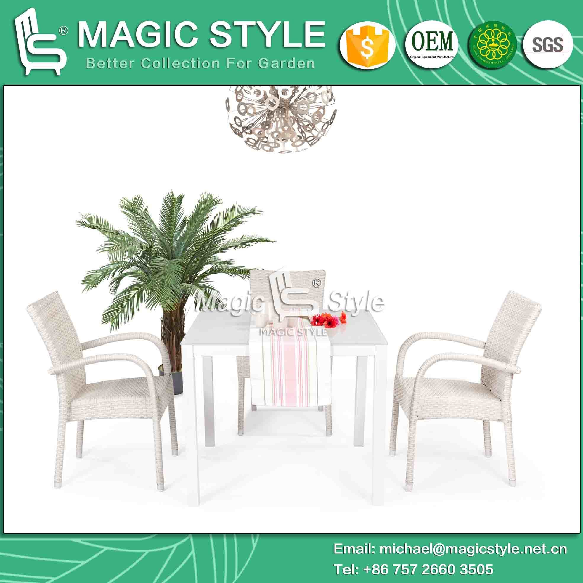 Hotel Projet Stackable Garden Dining Chair Bitro Chair Rattan Dining Chair Wicker Weaving Chair Cafe Chair Coffee Chair