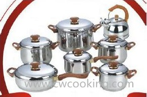 14 PCS Kitchenware Bakelite Juego Bateria 14pzs Acero Inoxidable