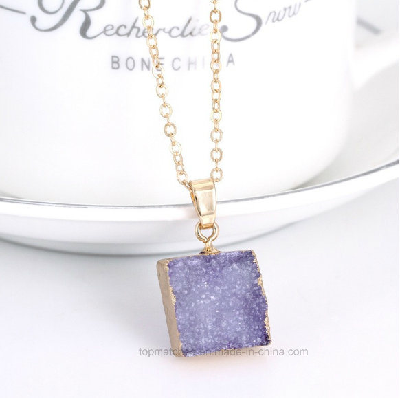 Fashion Square Crystal Stone Camera Necklace Jewelry