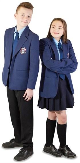 100% Polyester Stylish School Uniform Navy Blazer